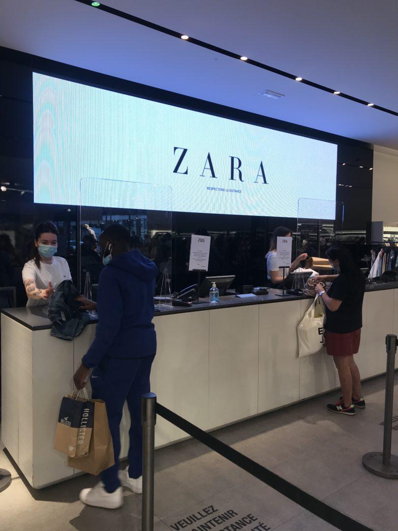 deconfinement retail caisse zara
