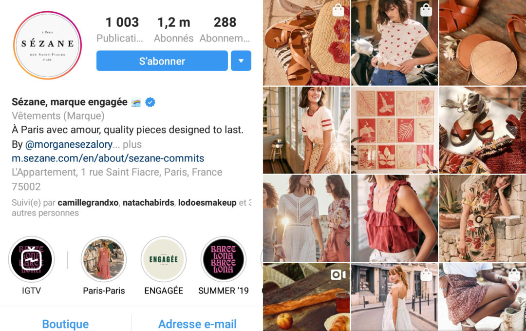 sezane-instagram-digitally-natives-vertical-brands